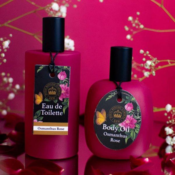 Kew Gardens Osmanthus Rose Body Oil and Eau de toilette