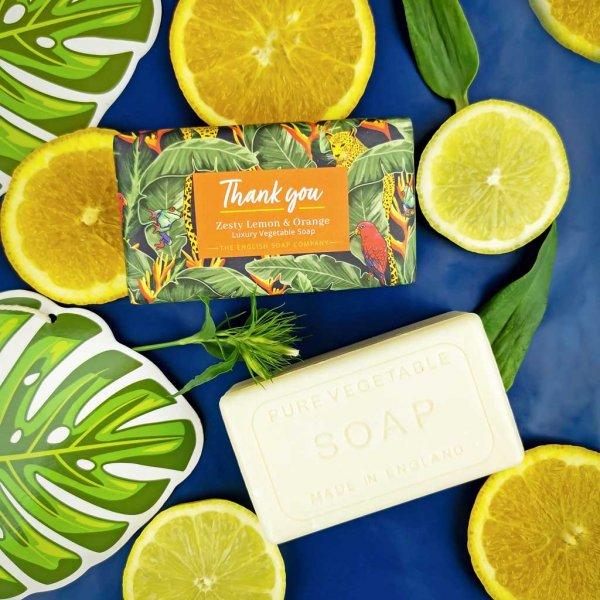 Zesty Lemon and Orange Thank You Soap Bar