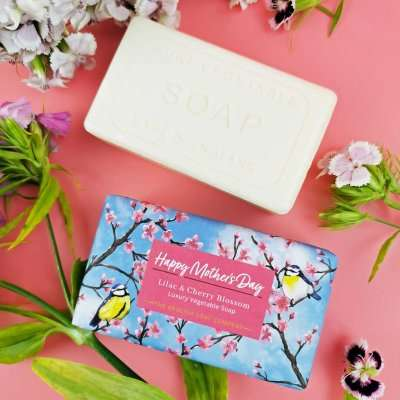 Lilac and Cherry Blossom Happy Mothers Day Soap