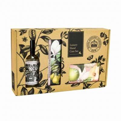 Kew Gardens Magnolia and Pear Hand Care Gift Box