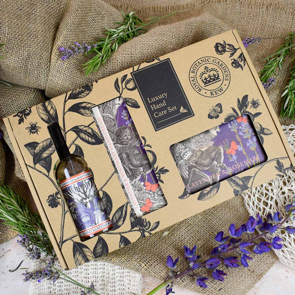 Kew Gardens Lavender and Rosemary Hand Care Gift Box